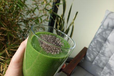 vegan stillen ernährung vitamine vegetarisch smoothie chia salat saaten ekulele