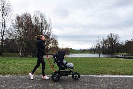 tfk joggster lite, joggen mit kind, joggen mit baby, ekulele, sportliche mama