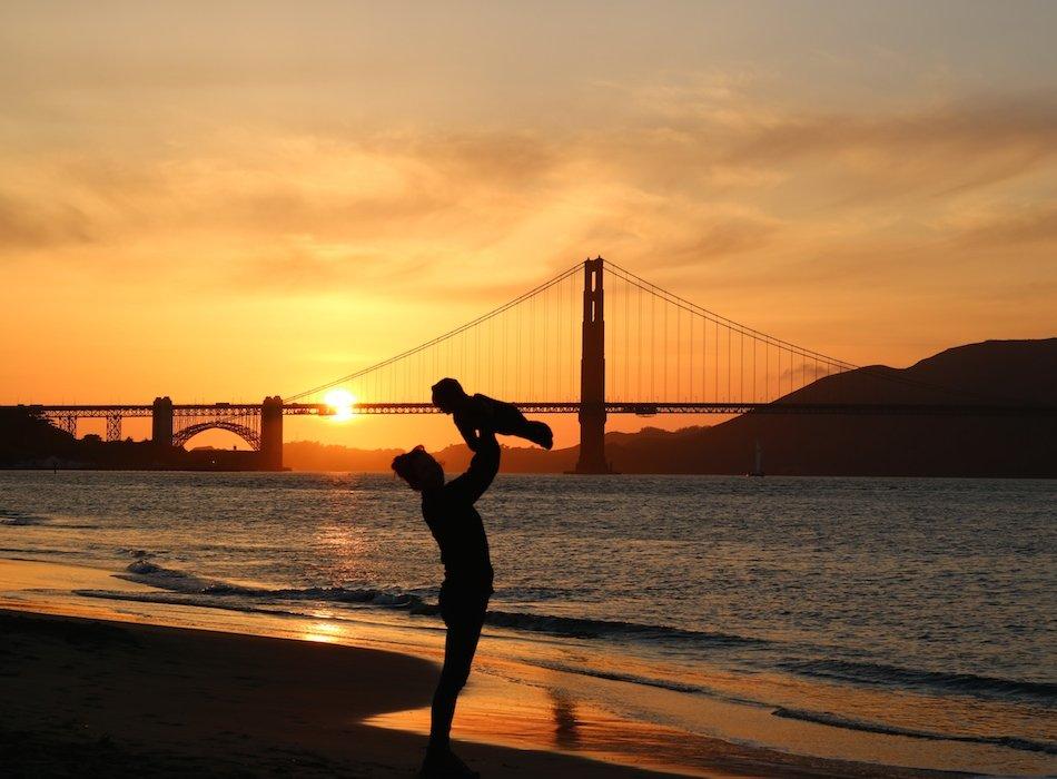 Baby vor Golden Gate Bridge