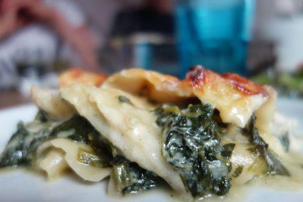 Spinat, Lasagne, köstlich, fleischfrei, für gäste, ekulelefood,